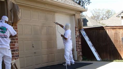 what of paint to use on garage doors garage door spray painting dallas ft worth exterior home painters restoration
