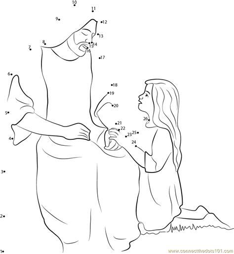 dot to dot jesus printables jesus christ cares dot to dot printable worksheet