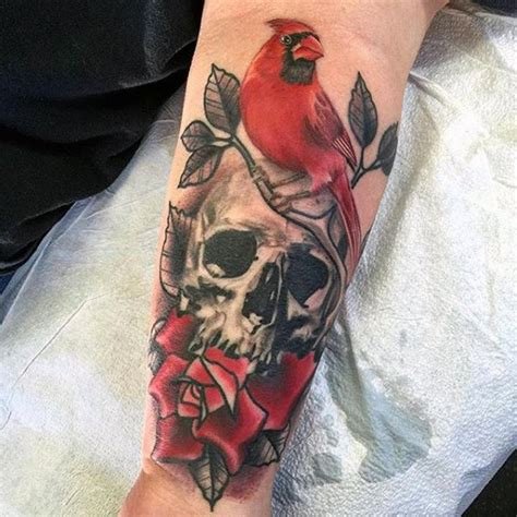 arizona cardinals tattoos 60 cardinal designs for bird ink ideas