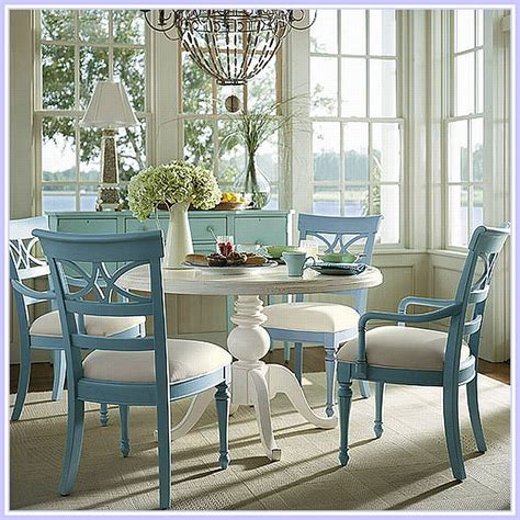 a white dining table matches any theme in your dining room dining room this dining set 405 assateague house in cream