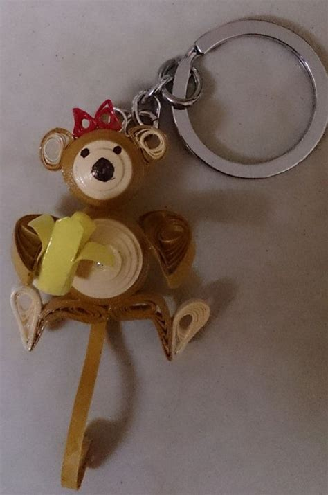 quilled monkey keychain by shwetasartgallery on etsy diy