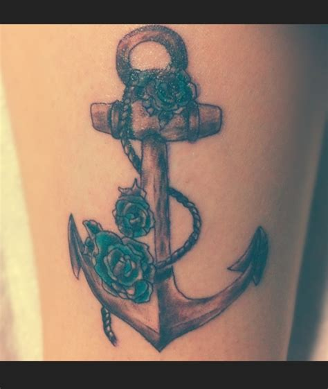anchor tattoos with flowers 1000 ideas about anchor flower tattoos on