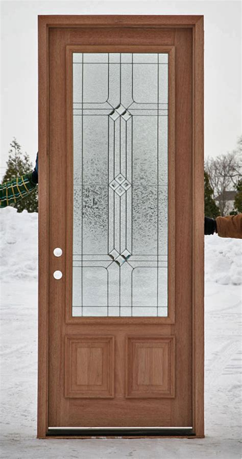 Wood Glass Front Door Wood Front Doors With Decorative Glass