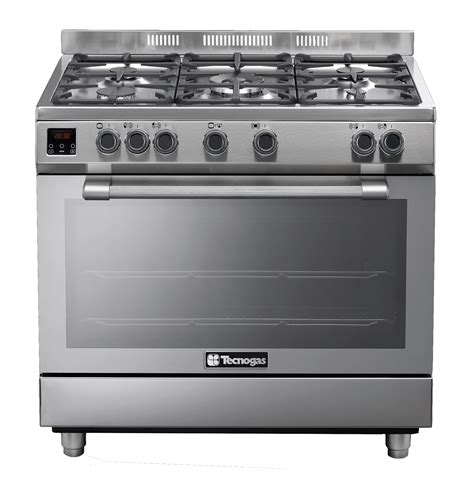 Oven Gas Tecnogas tecnogas gas stove s steel model n2x96g5vc