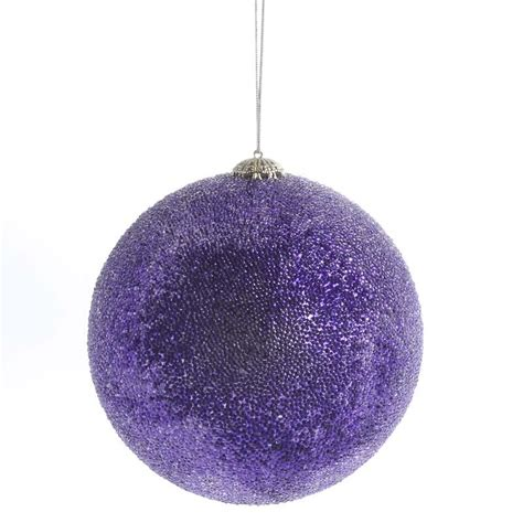 large icy purple ball ornament christmas ornaments