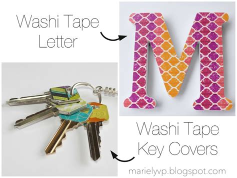 what to do with washi tape we read diy washi tape letter and key covers