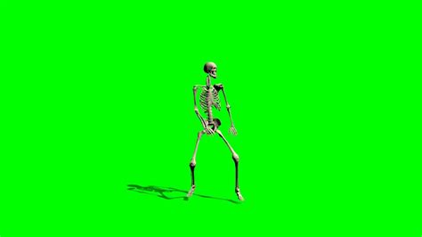 Spndx Maxy Kancing skeleton green screen effect