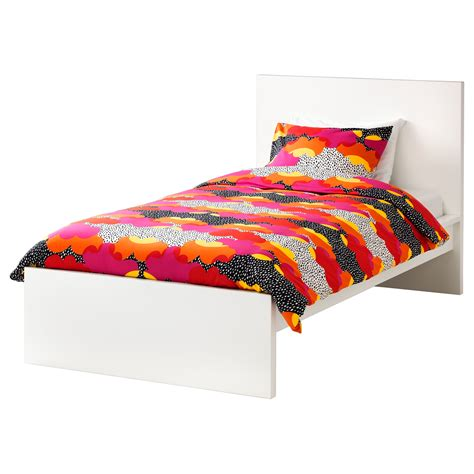 malm bed frame high white leirsund standard single ikea