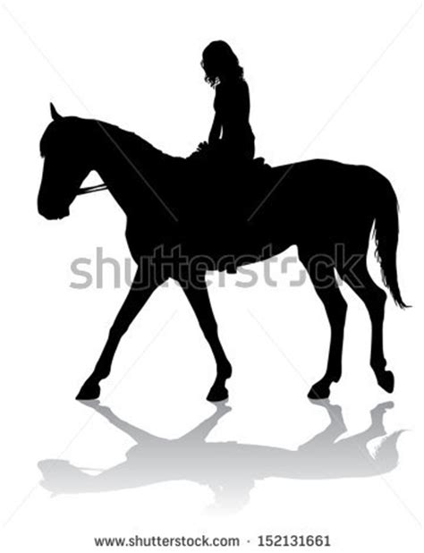 girl horse silhouette clipart clipground