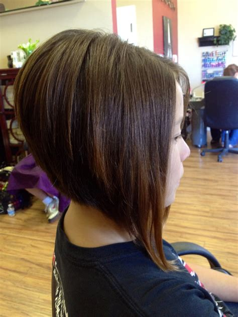 photos of an a line stacked haircut a line stacked bob haircut short hairstyle 2013