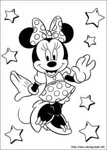 minnie mouse coloring picture