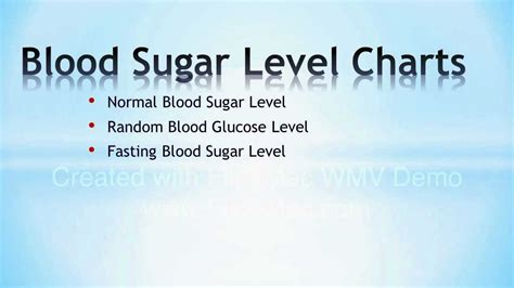key blood sugar level charts youtube