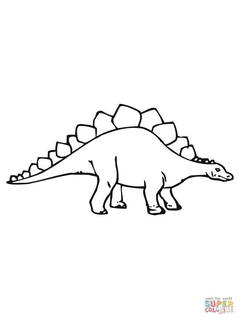 coloring pages dinosaurs stegosaurus stegosaurus dino coloring page supercoloring com