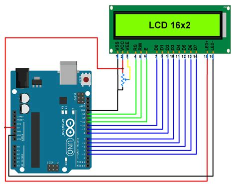 arduino code with lcd lcd 16x2 interfacing with arduino uno electronicwings