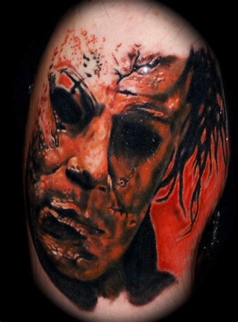 michael myers tattoo creepy spooky scary tattoos