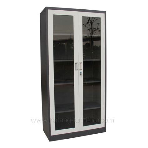 Lemari Kaca Dua Pintu kaca lemari kantor pintu hefeng furniture