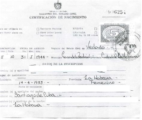 What Is A Birth Record Cuban Birth Certificate Cubacityhall