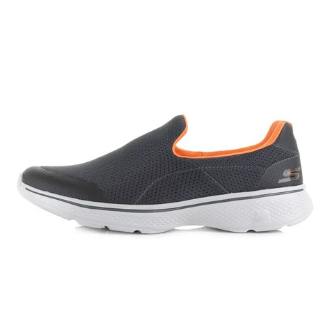 Skechers Walk 4 by Mens Skechers Go Walk 4 Charcoal Orange Comfort
