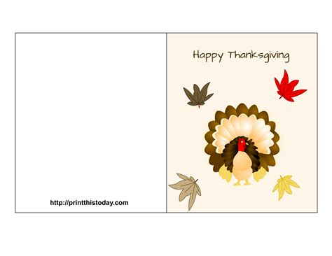 Free Thanksgiving Card free printable thanksgiving cards