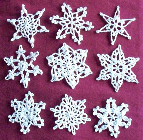 crochet snowflake patterns free patterns