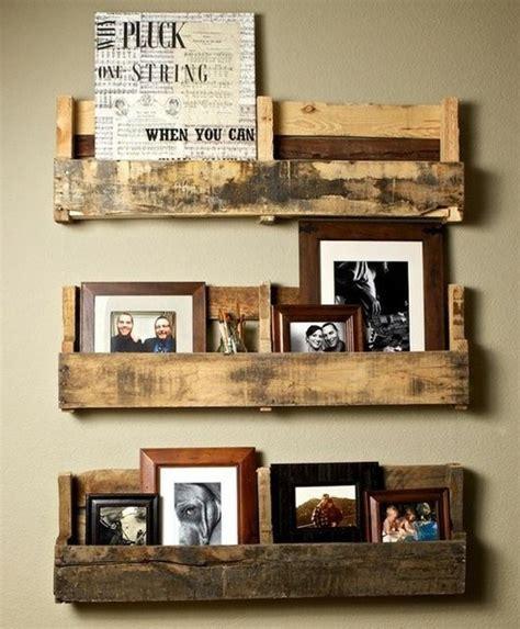 diy rustic pallet shelves crafty ideas