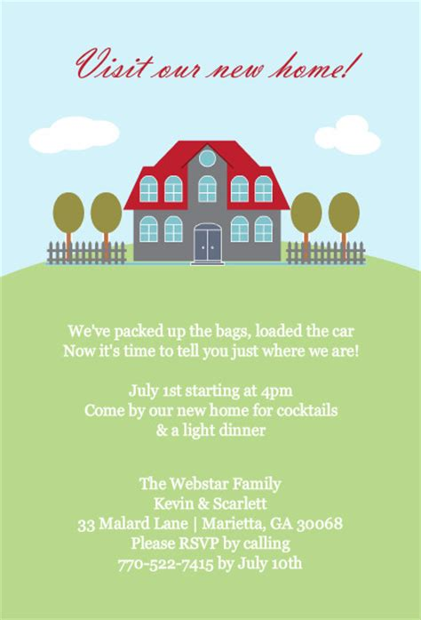 housewarming invitation templates best template collection