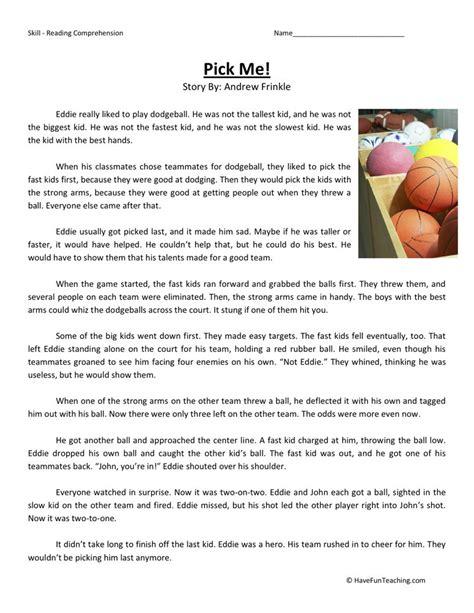 Fourth Grade Reading Worksheets by Reading Comprehension Worksheet Me