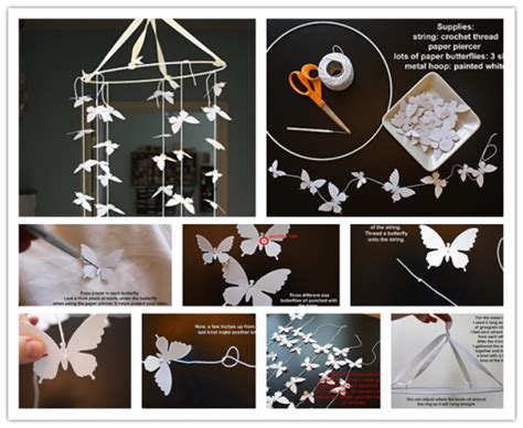 How To Make Decorations For Your Room Out Of Paper - diy butterfly mobile pictures photos and images for