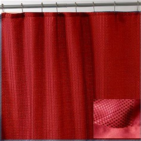 red fabric shower curtain com fabric shower curtain ambrosia red
