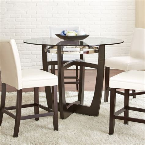 steve silver dining table steve silver matinee glass top counter dining table