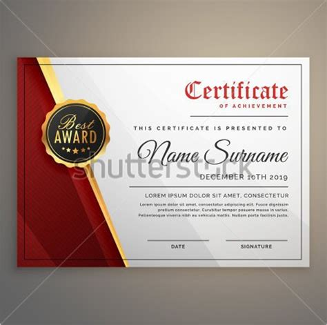 certificate design beautiful business certificate templates free premium download