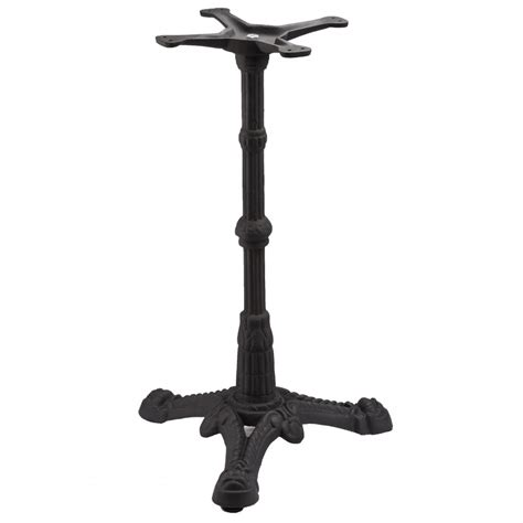 Iron Bistro Table Base Bistro 3 Black Table Base Tablebases Quality Table Bases Metal Table Legs Restaurant
