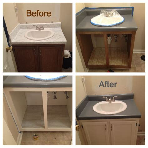 bathroom renovation on a mega budget i used rustoleum