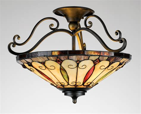 Traditional Ceiling Lights Lighting Design Ideas Felice Traditional Semi Flush Mount Ceiling Light By Quoizel