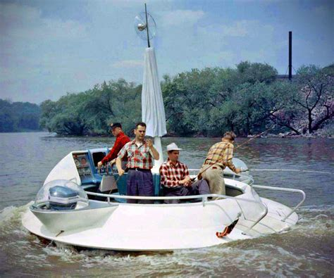 fishing boat run over by yacht this 1957 evinrude flying saucer fishing boat is so