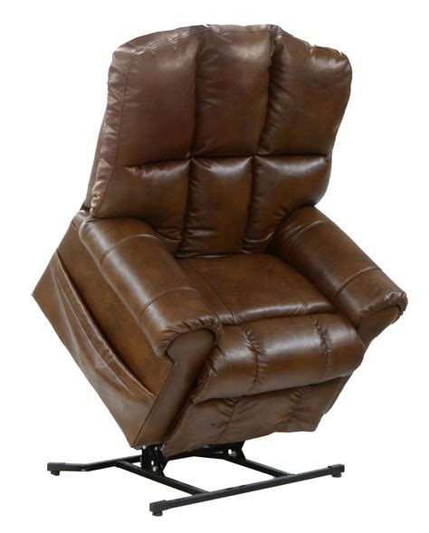 leather power lift recliners catnapper stallworth bonded leather power lift full lay
