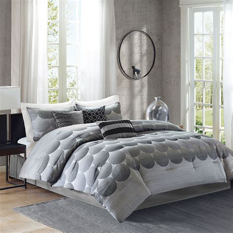 modern grey comforter beautiful modern chic contemporary grey charcoal black