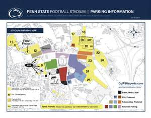 Penn State University Map by Beaver Stadium State College Pa