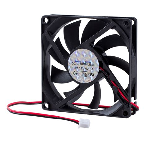 2 pin computer fan dc 12v 0 18a 2 pin connector pc computer case fan