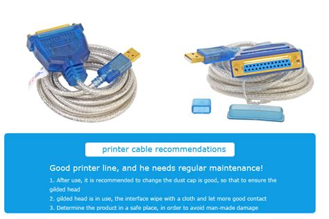 Cable Paralel Printer 1 5m dtech dt 5055 usb to db25 parallel cable 5m usb to rs232 cable