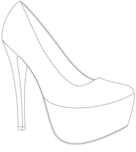 Template For Shoes Design Win Your Wedding Shoes With If Ladies 183 Rock N Roll Bride Books High Heel Shoe Template