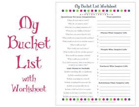 Dream List Template Bucket List Printable With Worksheet Make A Plan To Live