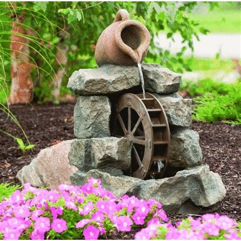 backyard water wheel 44 best images about fountains and yard deco on pinterest