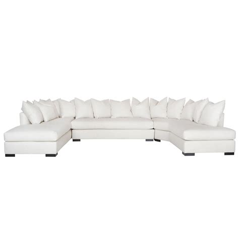 feather down sectional adair modern classic white 3 piece u shaped feather down