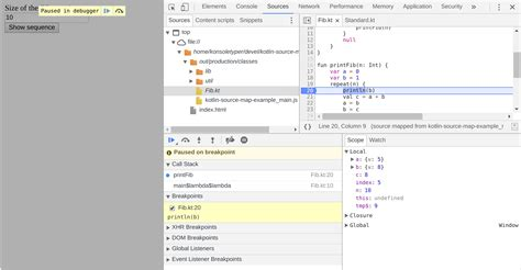javascript tutorial tabs debugging kotlin in browser kotlin programming language
