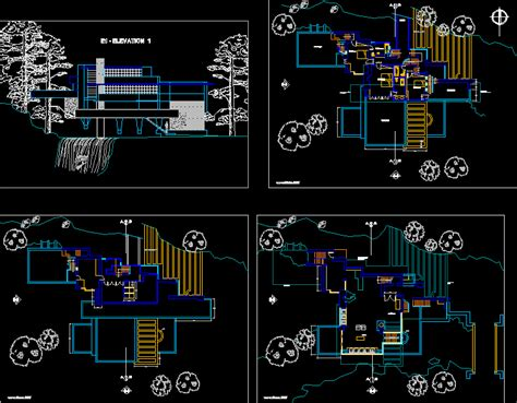 Housing Blueprints Floor Plans fallingwater bull run pa usa by frank lloyd wright