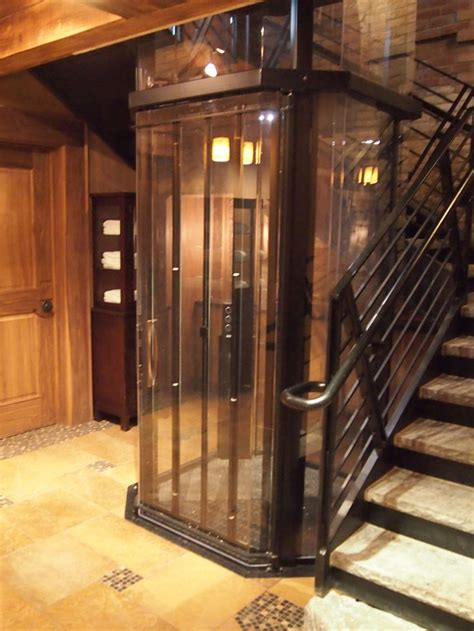 Custom Home Elevator In A Beautiful Rustic Home Home Elevator Design