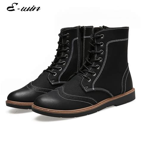 Humm3r Freed Black Original 39 44 2016 autumn size 39 44 ankle boots s casual martin boots lace up black shoes free