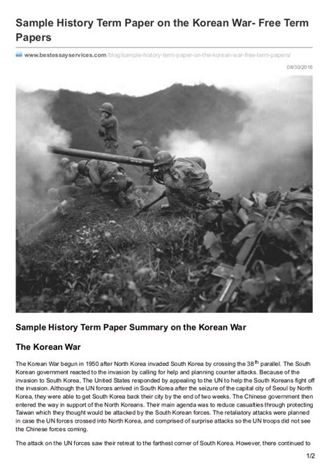 korean war research paper bestessayservices sle history term paper on the
