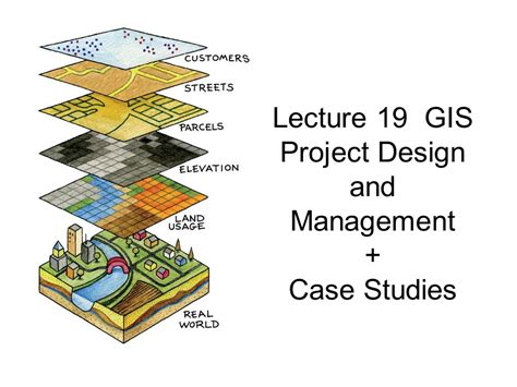 design management lecture lecture 19 gis project design and management case